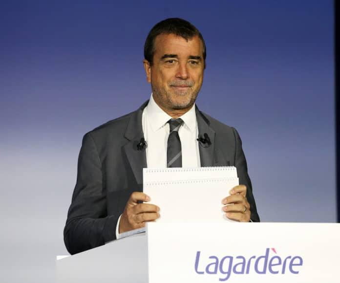 Arnaud Lagardère. Arnaud Lagardère. Assemblée Generale du Groupe Lagardere a Paris , France